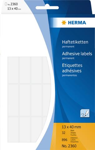 Etikett, Handbeschriftung, sk, Spezialpapier, 13 x 40 mm, weiß