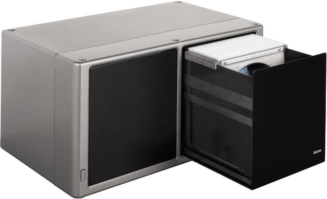 CD-Box Magic Touch 120, Kst., 338x196x171mm, für: 120CDs, sw/silb