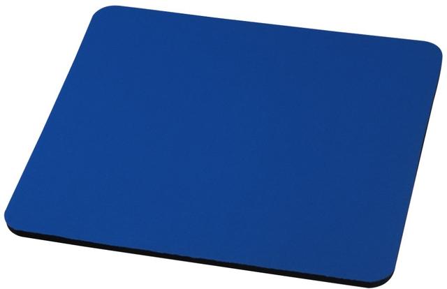Mauspad, Jersey/Ethylenvinylacetat, 22,3 x 18,3 cm, 6 mm, blau