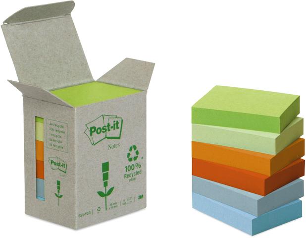 Post-it® Haftnotiz RC, 51 x 38 mm, 6farbig sortiert, 100 Blatt