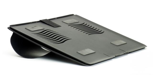Laptopständer GoRiser™, Kst., für Geräte bis: 39,12cm, sw