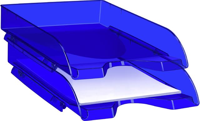 Briefkorb CepPro Happy, PS, A4, 260x345x64mm, blau