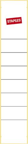 Rückenschild, selbstklebend, Papier, schmal / kurz, 39x190mm, weiß