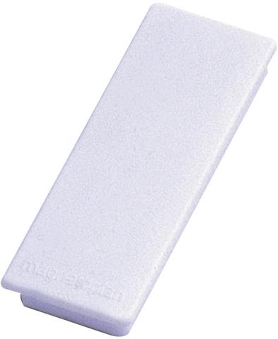 Magnet, rechteckig, 54 x 19 mm, 8 mm, Haftkraft: 1.300 g, weiß
