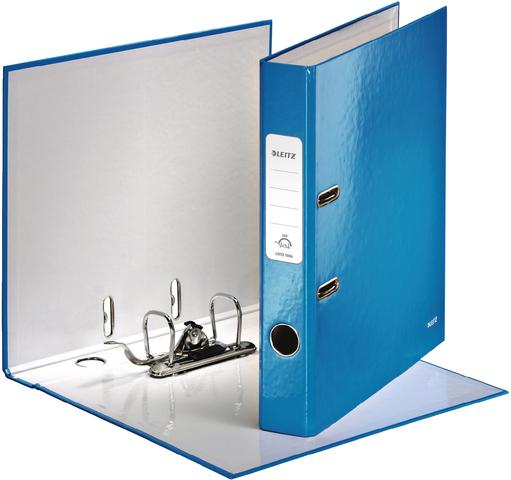 Ordner WOW, Graupappe, SK-Rückenschild, A4, 52 mm, blau, metallic