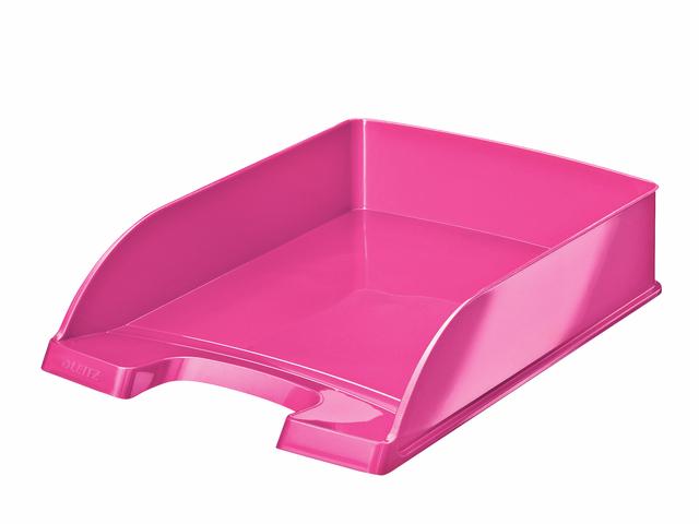 Briefkorb WOW, PS, A4, 255x357x70mm, pink, metallic