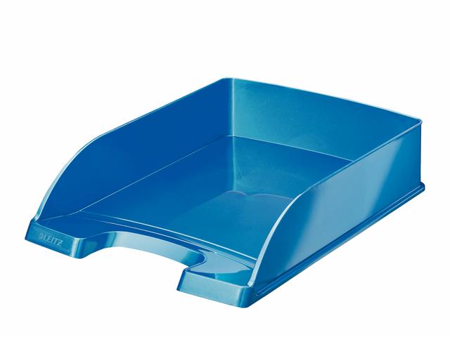 Briefkorb WOW, PS, A4, 255x357x70mm, blau, metallic