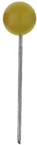 Markierungsnadel, Rundkopf, Kopf: 5 mm, Spitze: 16 mm, gelb