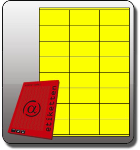 Etikett, Inkjet/Laser/Kopierer, selbstklebend, 70x36mm, neongelb