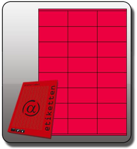 Etikett, Inkjet/Laser/Kopierer, selbstklebend, 70x36mm, neonpink