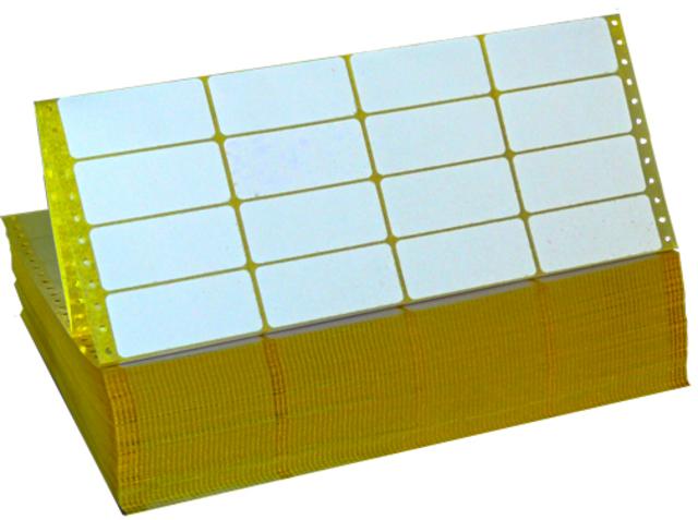Tabellieretikett, Matrix, selbstklebend, 4bahnig, 81x36mm, weiß