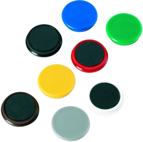 Magnet, rund, Ø: 24 mm, 7 mm, Haftkraft: 300 g, gelb
