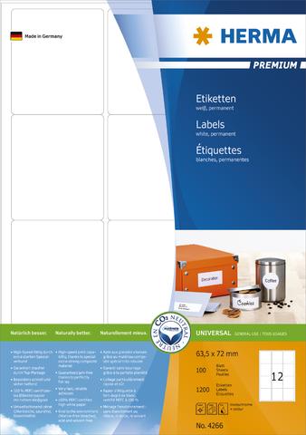 Etikett, I/L/K, sk, abger.Ecken, 63,5 x 72 mm, weiß