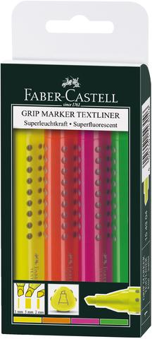 Textmarker, GRIP TEXTLINER, Keilspitze, 1/2/5mm, Schreibf.: 4er so