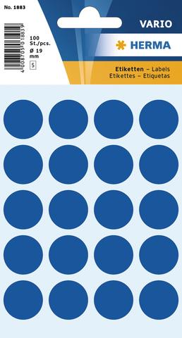 Markierungspunkt, Handbeschriftung, sk, Ø: 19 mm, dunkelblau