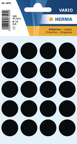 Markierungspunkt, Handbeschriftung, sk, Ø: 19 mm, schwarz