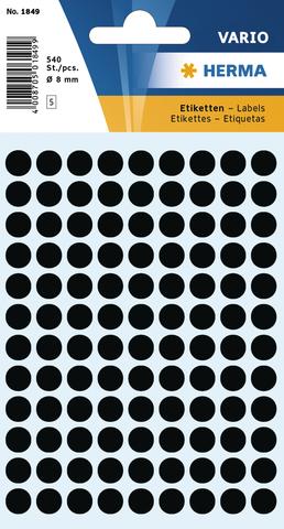 Markierungspunkt, Handbeschriftung, sk, Ø: 8 mm, schwarz