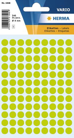 Markierungspunkt, Handbeschriftung, sk, Ø: 8 mm, leuchtgrün