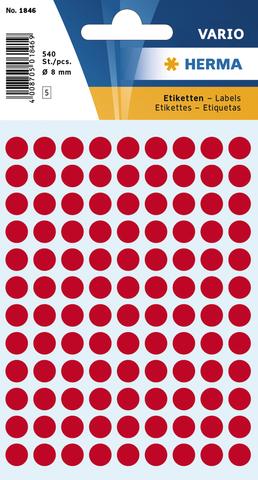 Markierungspunkt, Handbeschriftung, sk, Ø: 8 mm, leuchtrot