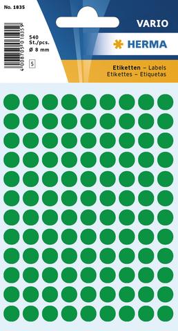 Markierungspunkt, Handbeschriftung, sk, Ø: 8 mm, dunkelgrün