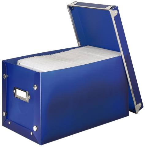 CD-Box Media Box 140, Kunststoff, für: 140 CDs/DVDs, blau, transparent