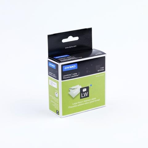 Etikett LabelWriter, Rücksendeadresse, sk, permanent, 54x25mm, weiß