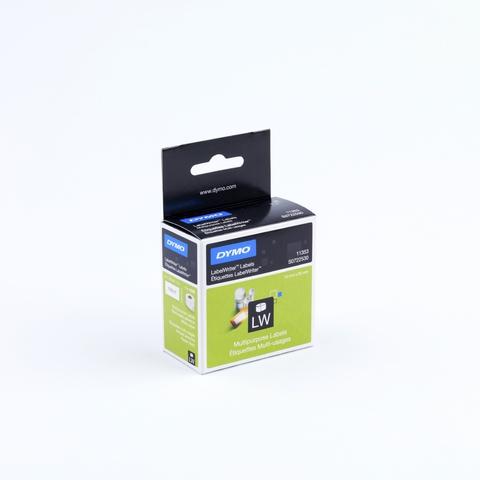 Etikett LabelWriter, sk, ablösbar, Papier, 24x12mm, weiß