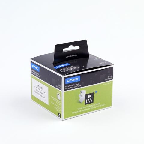 Etikett LabelWriter, Rückenschild, ablösbar, Papier, 41x89mm, weiß