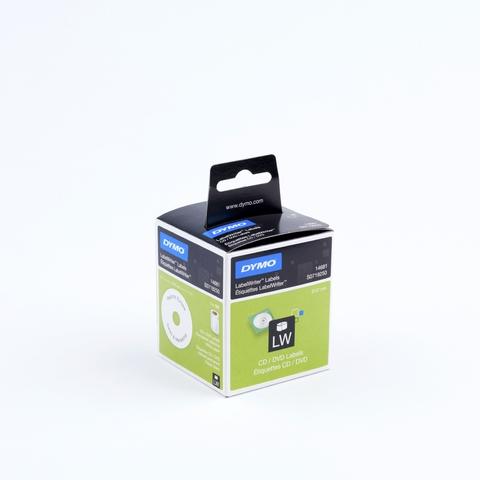 Etikett LabelWriter, CDs, Ø: 57mm, weiß