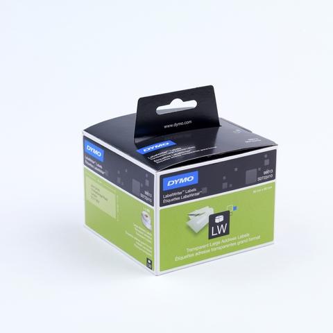 Etikett LabelWriter, Adressetikett, Folie, 89 x 36 mm, farblos