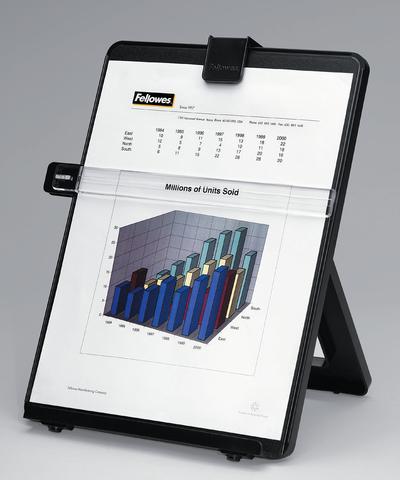 Konzepthalter Workstation, zum Aufstellen, A4, schwarz