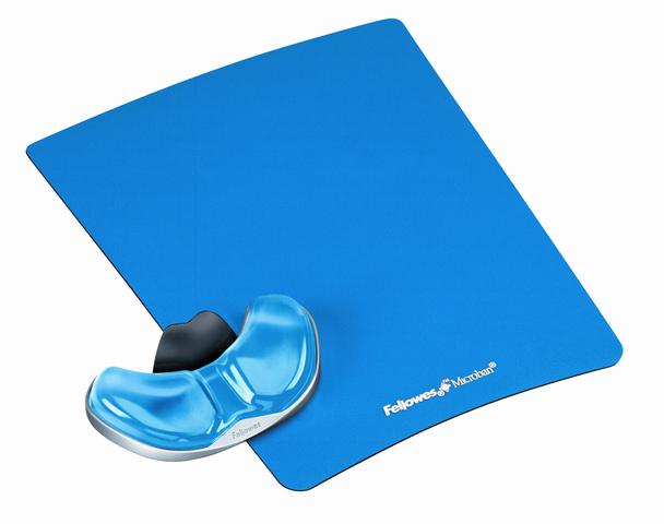 Mauspad Health-V™ Crystals™, mit Handgelenkauflage, blau