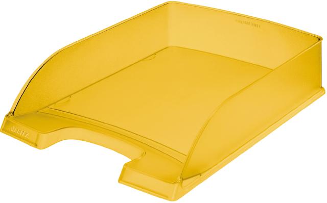 Briefkorb Standard Plus, PS, A4, 255 x 357 x 70 mm, gelb, gefrostet