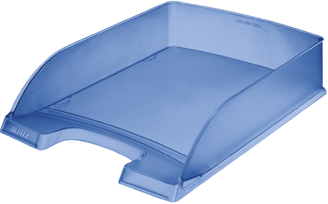 Briefkorb Standard Plus, PS, A4, 255 x 357 x 70 mm, blau, gefrostet