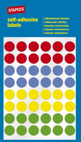 Markierungspunkt, auf Bogen, sk, Papier, Ø: 12 mm, 4farbig sortiert