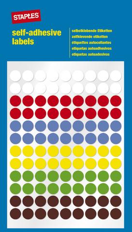 Markierungspunkt, auf Bogen, sk, Papier, Ø: 8 mm, 6farbig sortiert