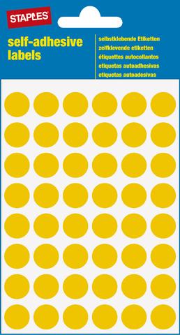 Markierungspunkt, auf Bogen, sk, Papier, Ø: 12 mm, gelb