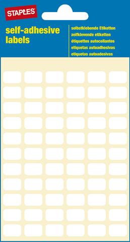 Etikett, auf Bogen, sk, 12 x 8 mm, weiß