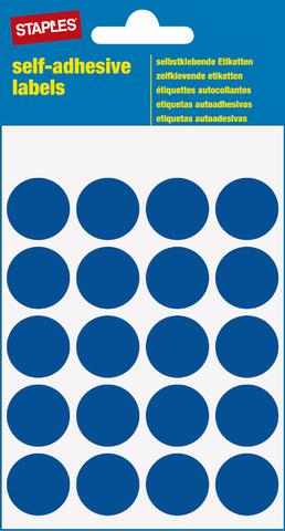 Markierungspunkt, auf Bogen, sk, Papier, Ø: 19 mm, blau