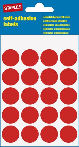 Markierungspunkt, auf Bogen, sk, Papier, Ø: 19 mm, rot
