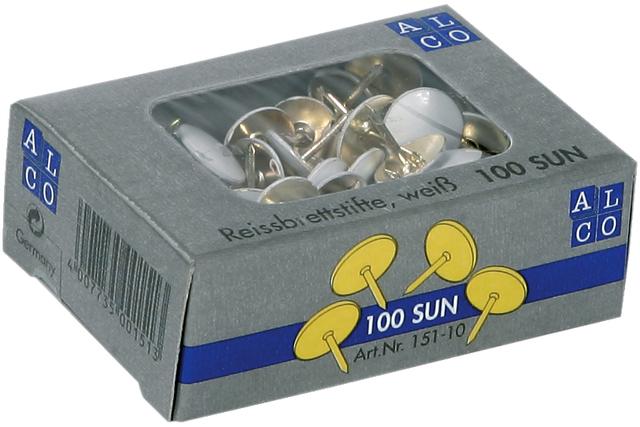 Reißnagel SUN, kunststoffüberzogen, Kopf: 9,5 mm, weiß