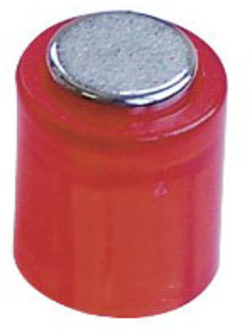 Magnet POWER, Zylinder, rund, Ø: 14 mm, Haftkraft: 1.900 g, rot