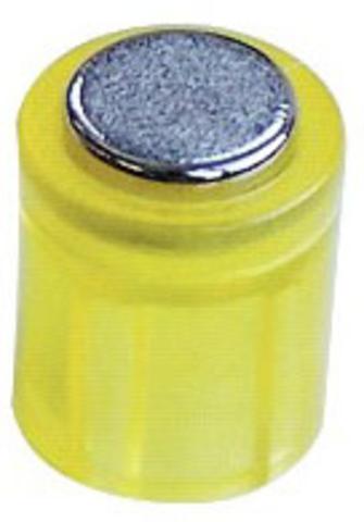 Magnet POWER, Zylinder, rund, Ø: 14 mm, Haftkraft: 1.900 g, gelb