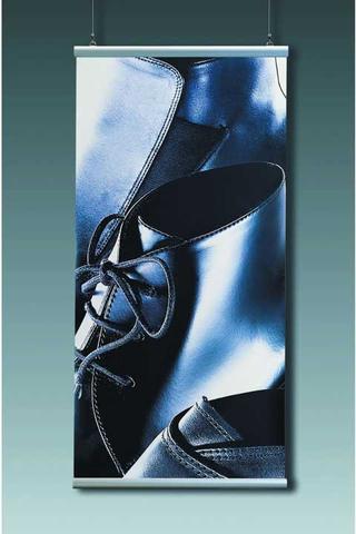 Wandschiene, Set, Aluminium, z.Anschrauben, L: 42 cm, silber