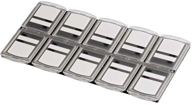 Speicherkartenbox, 142x74x4mm, für: 10 Speicherkarten, farblos