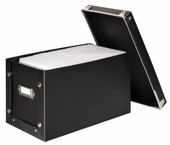 CD-Box Media Box, 141 x 263 x 145 mm, für: 140 CDs/DVDs, schwarz