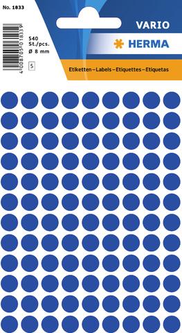Markierungspunkt, Handbeschriftung, sk, Ø: 8 mm, dunkelblau