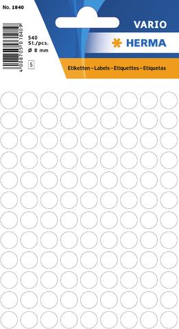Markierungspunkt, Handbeschriftung, sk, Ø: 8 mm, weiß