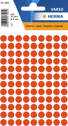 Markierungspunkt, Handbeschriftung, sk, Ø: 8 mm, rot