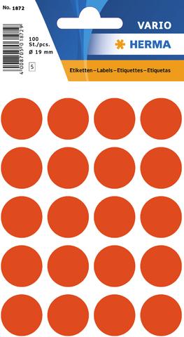 Markierungspunkt, Handbeschriftung, sk, Ø: 19 mm, rot